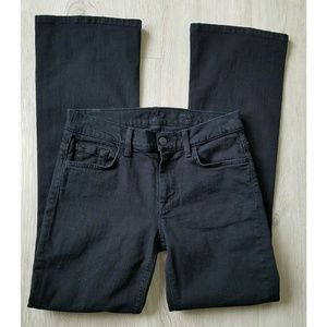 7 for all mankind Black midrise Boot cut jeans